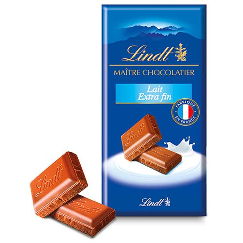 Plaquette de chocolat Lindt